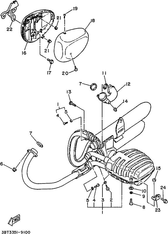 Yamaha Tw200 Exhaust